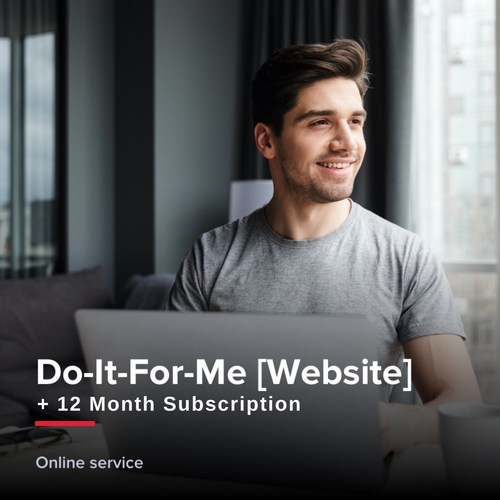 Do-It-For-Me Website + 12 month subscription
