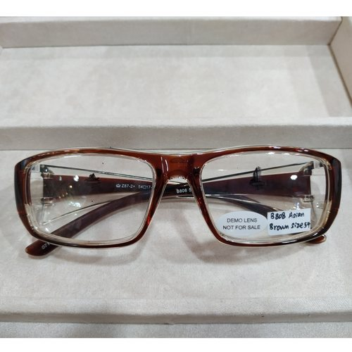 BOLLE B808 Asian Brown size 54 with single vision safety lens uncoated stock