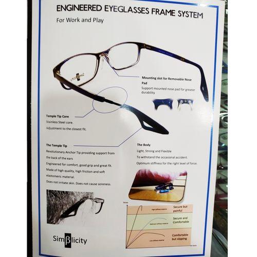 Beta-Simplicity Active Eyewear M0001 with cr39 1.56 mc emi