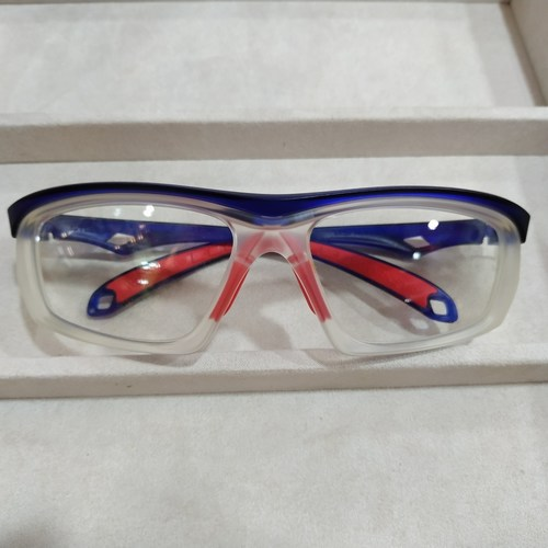 Worksafe Steed Blue/Red with safety lenses uncoated stock