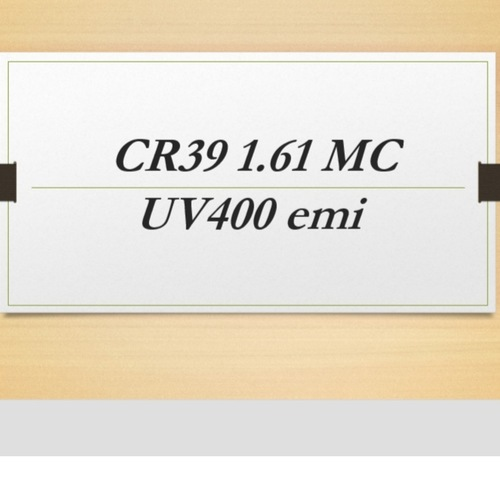 CR39 1.61 MC UV400 emi