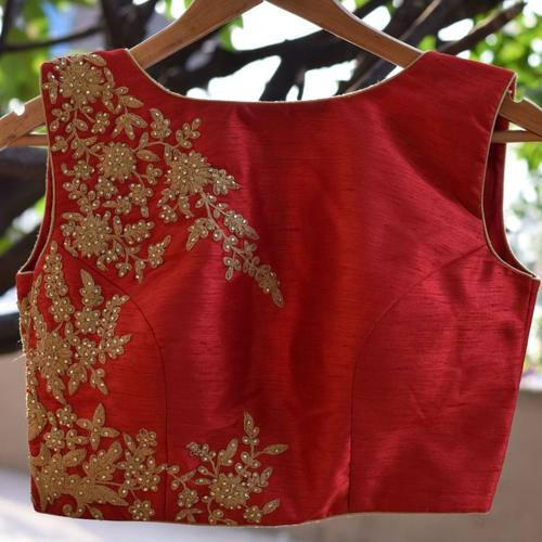 Handwork Raw Silk Designer Blouse