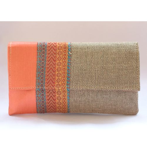 Cotton & Jute Combo Clutch