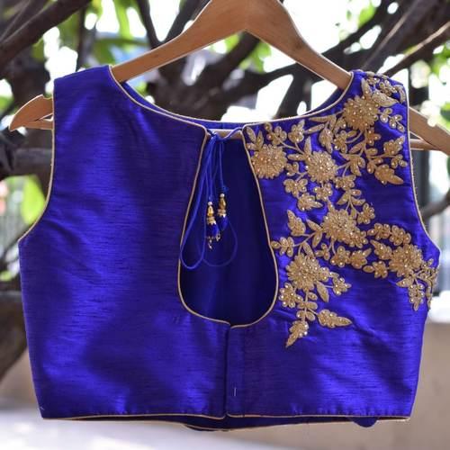 Handwork Raw Silk Designer Blouse
