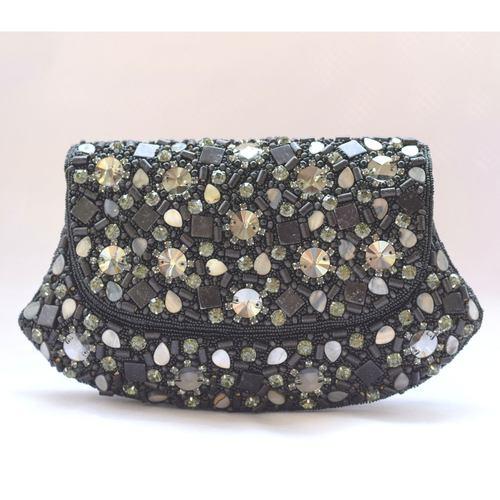 Stones & Beads Work Clutch