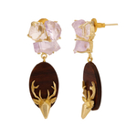 Doe Earring- Amethyst
