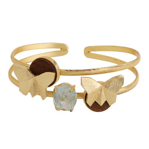 Butterfly Cuff- Aqua