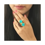 Smiley Ring- Turquoise
