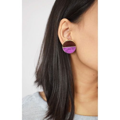 Coin Studs- Purple