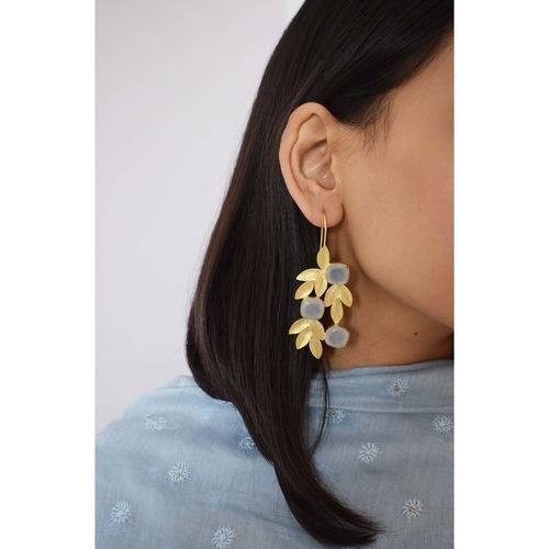 Leafy Earring- Moon Stone