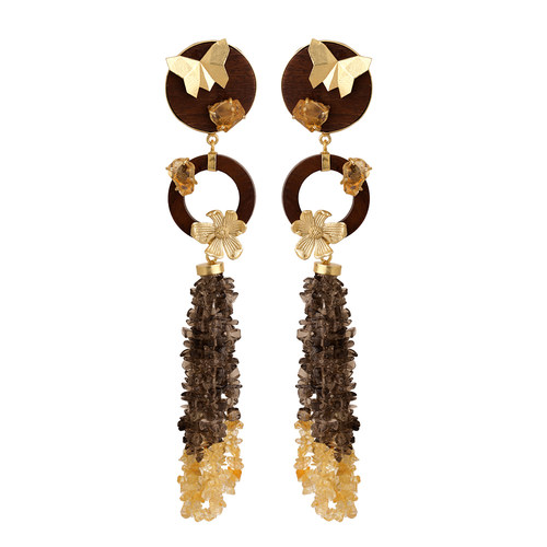 Papillon Dangler- Citrine