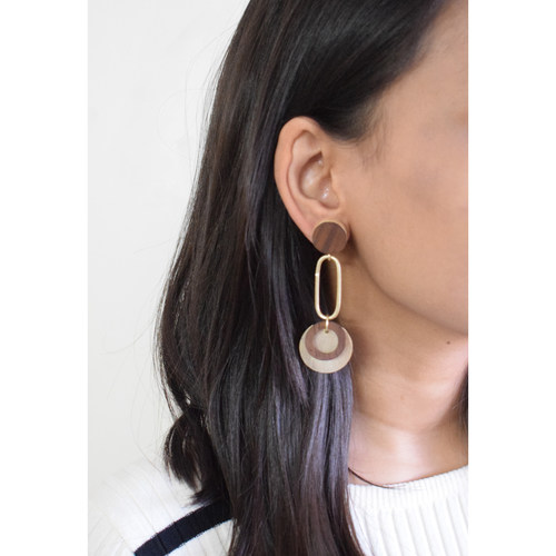 Pinned Circles Earring
