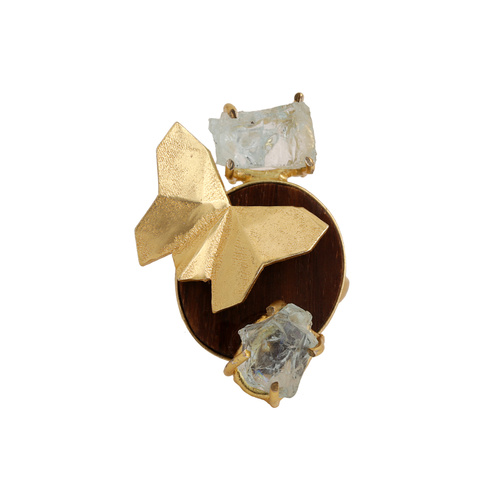Butterfly Ring- Aqua