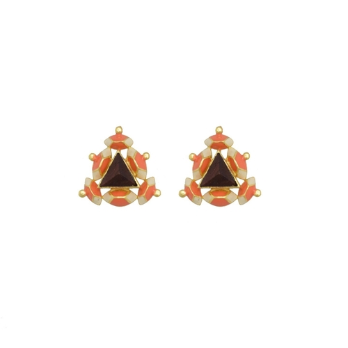 Pyramid Stud- Orange