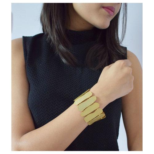 Gold Chip Bracelet