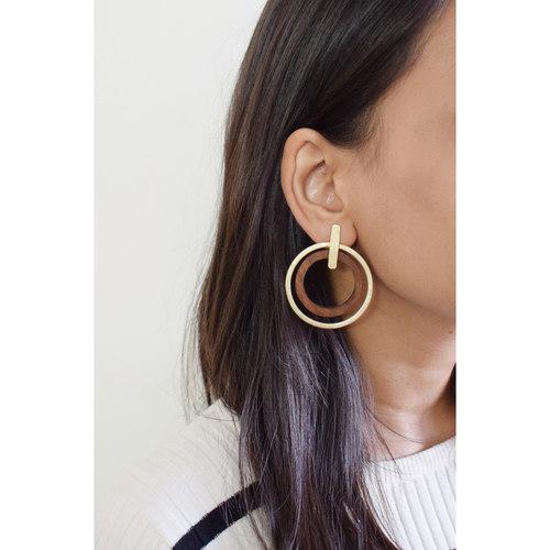Twin Circle Earring