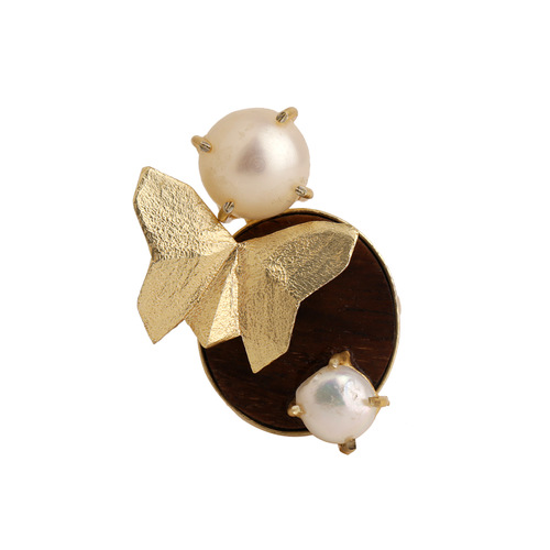 Butterfly Ring-Pearl