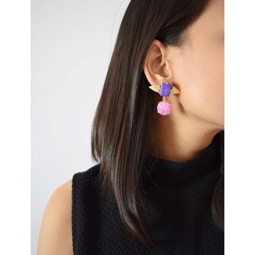 Spike Agate Earring