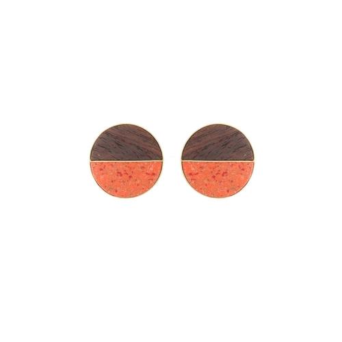 Coin Studs- Orange