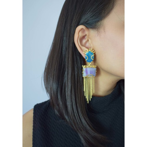 The Sun Agate Earring