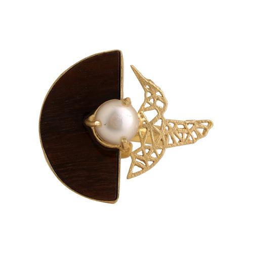 Bird Ring- Pearl
