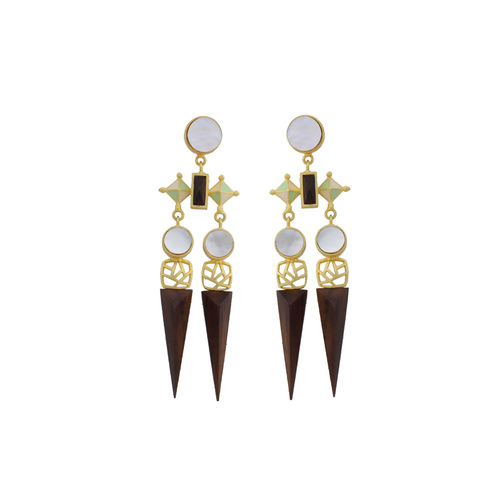Armory Earring- Mother of Pearl
