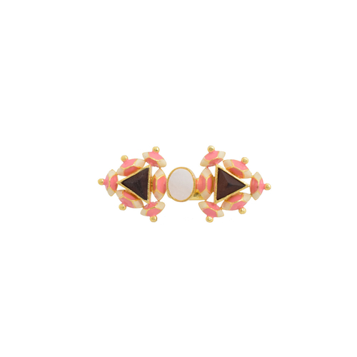 Twin Pyramid Ring- Mother Of Pearl
