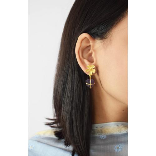 Bud Earring-Amethyst