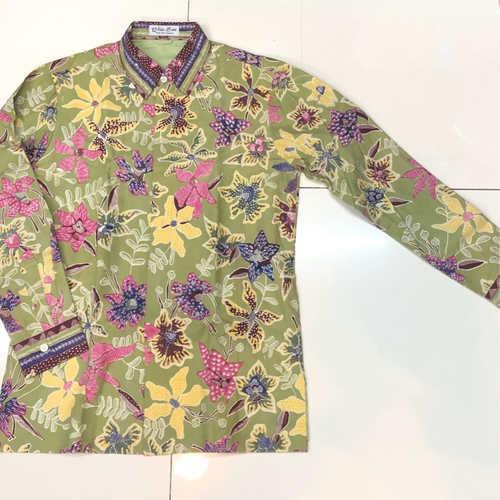 cotton hand drawn batik shirt