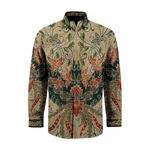 Hand Drawn Batik Long Sleeve Shirts ( L size )