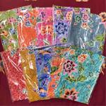 batik print apron