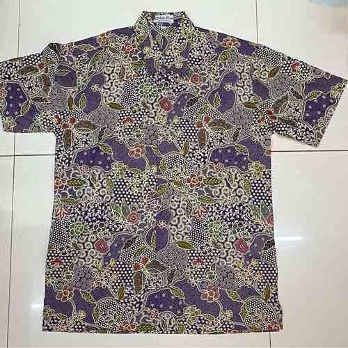 Batik print  Batik Cap short sleeve shirts  L size
