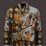 hand woven silk, hand drawn batik shirt