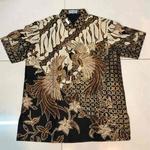 hand drawn batik shirt ( hand woven silk )