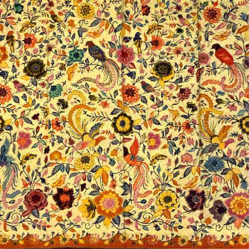 Batik hand drawn fabric