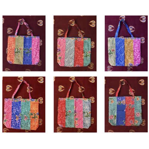 Batik Patched-work Tote Bag