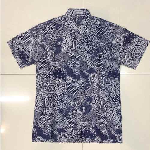 Batik print short sleeve shirts  M size