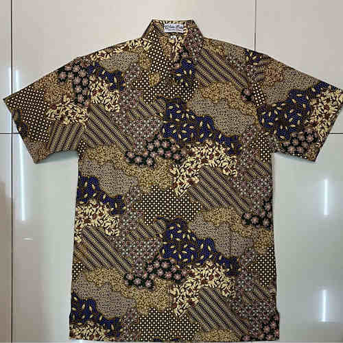 Batik print / Batik Cap short sleeve shirts ( M size )