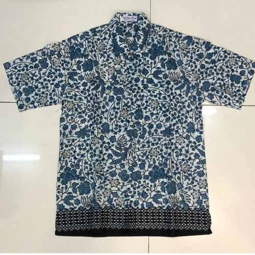 Batik print short sleeve shirts