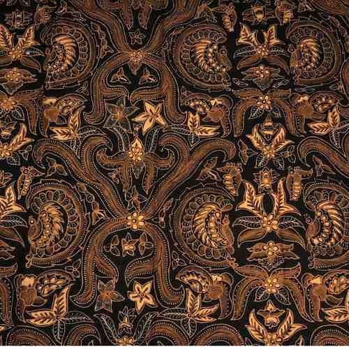 hand drawn batik fabric