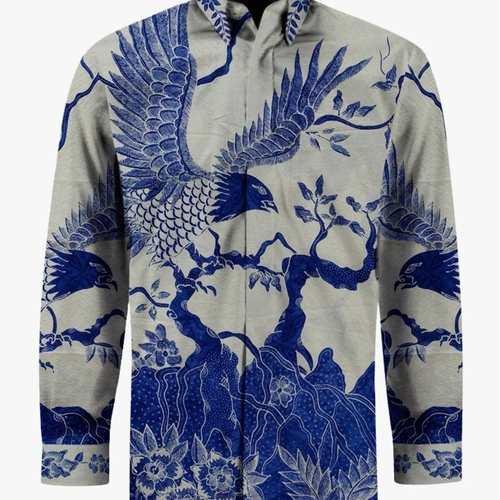 Hand woven silk, hand drawn batik