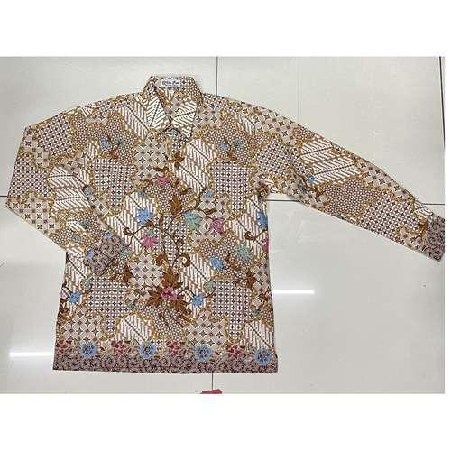 Batik print long sleeve shirt ( L size )