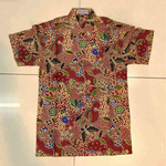 Batik print  Batik Cap short sleeve shirts  size XL