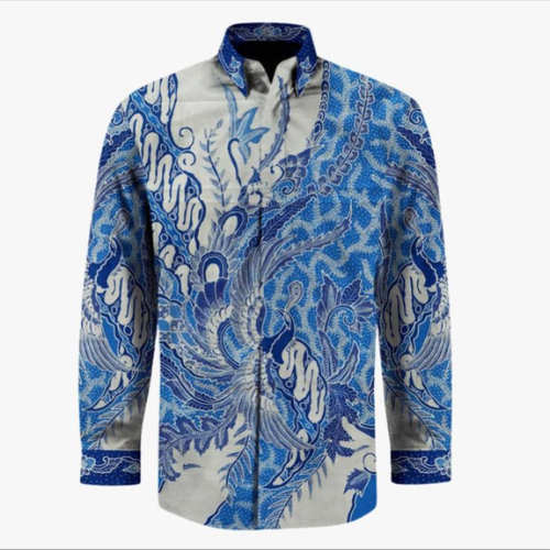 cotton hand drawn batik shirt