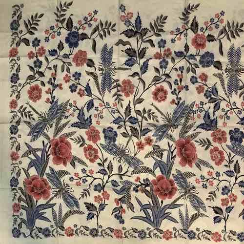 hand woven silk, hand drawn batik fabric
