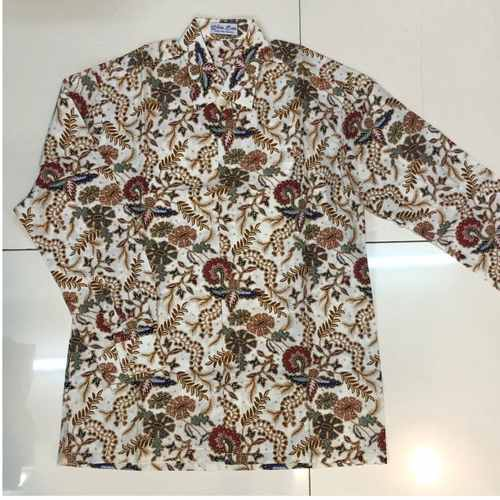 Batik print long sleeve shirts