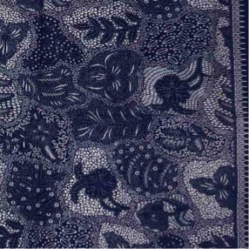 Batik print blue-white fabrics