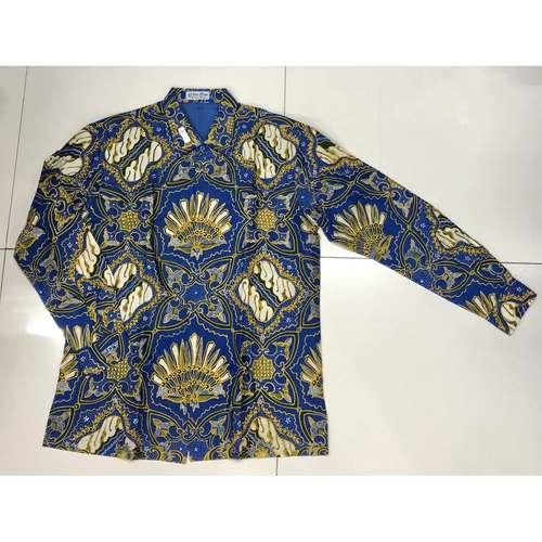 Hand Drawn Batik Long Sleeve Shirts XL size