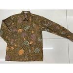 Batik print long sleeve shirt  XL size