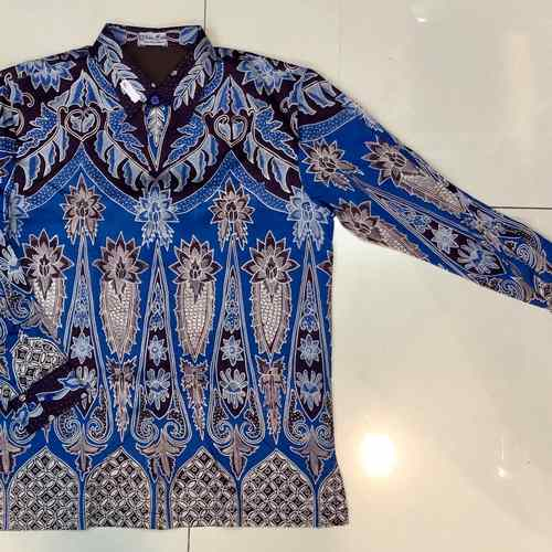 cotton-silk, hand drawn batik shirt